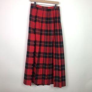 Vintage century long plaid wrap skirt size small